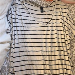 Windsor Black and White Striped Top